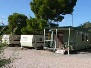 two caravans and a cabin