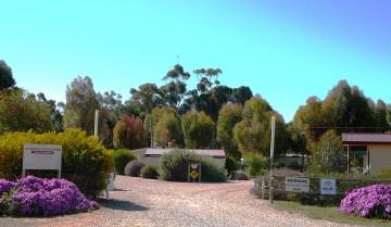 Entrance of Gladstone Caravan park
