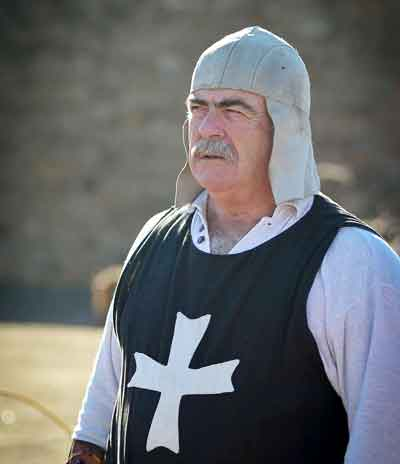Man dressed in a medieval costume